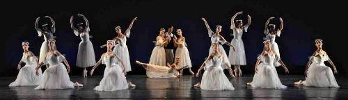 """Cleveland Ballet in Michel Fokine's """"Les Sylphides."""""""