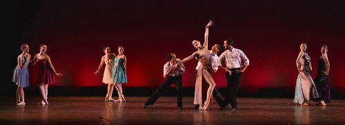 "Cleveland Ballet in Gladisa Guadalupe's ""A Collage of Frank Sinatra Songs."""