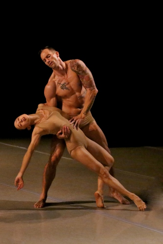 Photo of So Young An and Ben Schultz in Bulareyaung Pagarlava's Lamentation Variation.
