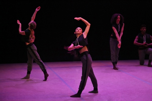 Photo of Laurel Dalley Smith, Anne O'Donnell, Ben Schultz and Xin Ying in Larry Keigwin's Lamentation Variation.