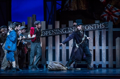 Joffrey Ballet company member Rory Hohenstein as The Rat Catcher in Christopher Wheeldon's 'The Nutcracker'.