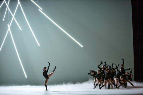 Anais Bueno and Joffrey Ballet dancers in Annabelle Lopez Ochoa's 'Mammatus.'