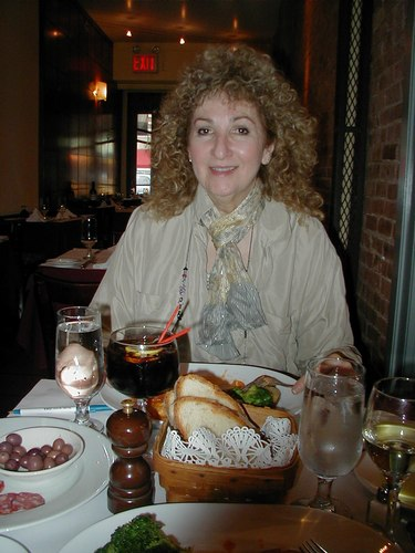 Marsha Patelson at Lunch at <a href='http://www.lunapienanyc.com/amarone.htm'>Amarone Ristorante</a>