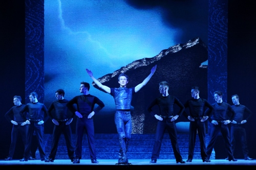 A scene from Riverdance: Thunderstorm.