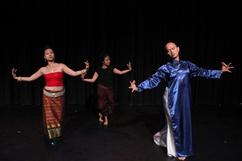 Chey Chankethya, Nguyen Nguyen and Waewdao Sirisook in Michael Sakamoto's 'Soil.'