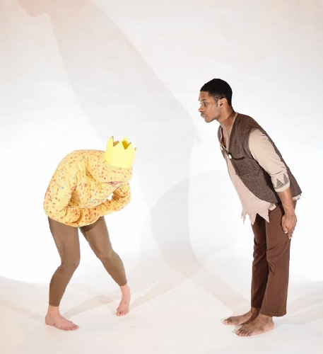 "Katie McGaha as ""The Idea"" and Kevin Parker as ""The child"" in Inlet Dance Theatre's ""What Do You Do With An Idea?"""
