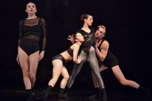 'Girl, Get Off' - (L-R) Samantha Blaz, Ellen Akashi, Camila Arana and Jonathan Stanley.