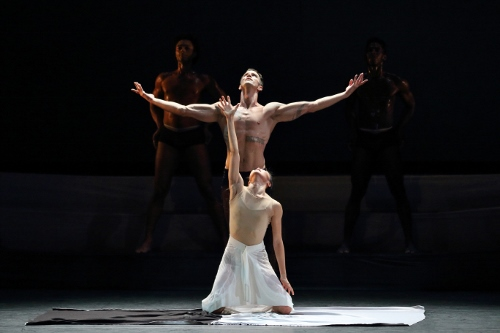 Photo of Ben Schultz and PeiJu Chien-Pott in Martha Graham's 'The Rite of Spring'.