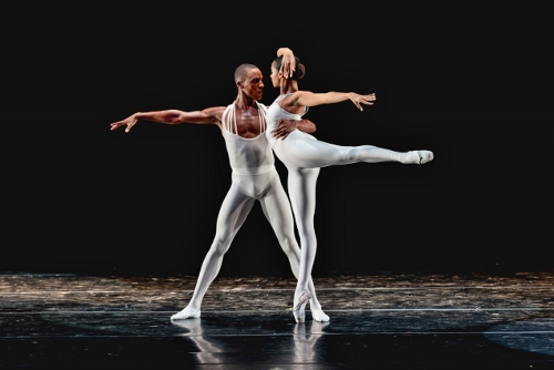 Anthony Santos and Alicia Mae Holloway in 'Dancing on the Front Porch of Heaven.'