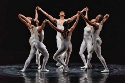 Jorge Andre's Villarini, Alicia Mae Holloway, Anthony Santos, Ingrid Silva, Dylan Santos and Lindsey Croop in 'Dancing on the Front Porch of Heaven.'