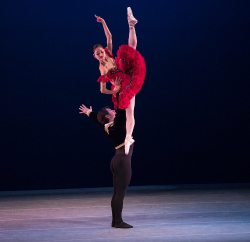Chris Lingner and Yoshiko Kamikusa perform the famed 'Don Quixote' Grand Pas de Deux during Indianapolis Ballet's May Residency at The Toby at Newfields, which marked the final performances of the company's 2018 debut season
