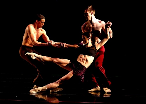 Dance Kaleidoscope's Brandon Comer, Mariel Greenlee and Stuart Coleman in Stephanie Martinez's 'Taking Watch'.