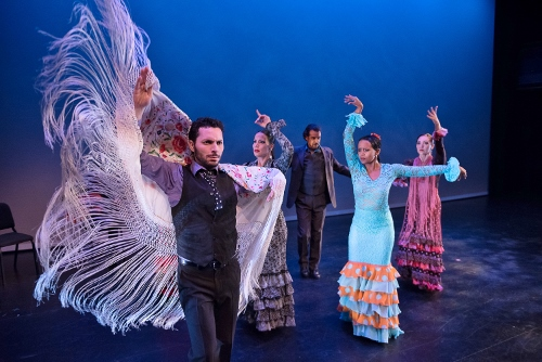 Flamenco Vivo Carlota Santana<br><br>&ldquo;Pa&rsquo; Triana Voy&rdquo;<br><br>Choreography by Jos&eacute; Maldonado<br><br>Pictured: L to R - Isaac Tovar, Eliza Gonz&aacute;lez, Antonio Hidalgo, Laura Peralta, Leslie Roybal.