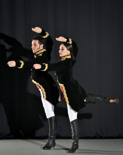 Flamenco Vivo Carlota Santana<br>&ldquo;Mujeres Valientes&rdquo;<br>Choreography by Bel&eacute;n Maya<br><br>Pictured: Elisabet Torras and Isaac Tovar as Manuela S&aacute;enz and Sim&oacute;n Bol&iacute;var, respectively