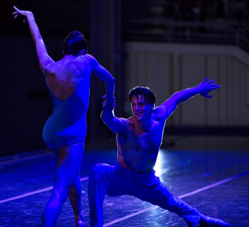 Charlotte Ballet dancers Alessandra Ball James, left, and Drew Grant perform in Filipe Portugal's 'Stepping Over'.