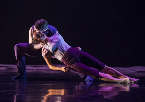 (Archive Photo) Hubbard Street Dancers Jessica Tong and Jason Hortin in 'Cloudline' by Robyn Mineko Williams.