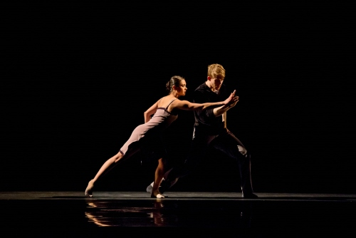 (Archive Photo) Hubbard Street Dancers Alicia Delgadillo and Elliot Hammans in Alejandro Cerrudo's Lickety-Split.