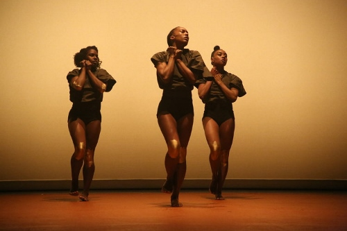 A.I.M's Kayla Farrish, Catherine Ellis Kirk and Marcella Lewis in Andrea Miller's 'state'.