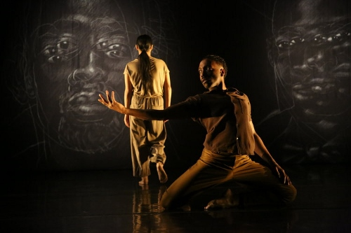 "A.I.M's Keerati Jinakunwiphat and Jeremy ""Jae"" Neal in Kyle Abraham's '""Meditation: A Silent Prayer'."
