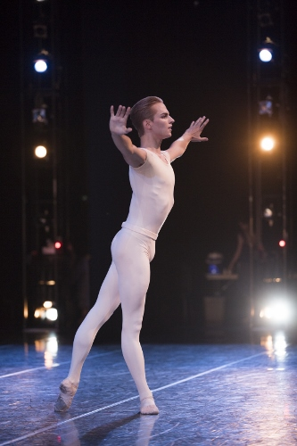 Pacific Northwest Ballet corps de ballet dancer Dylan Wald in Jerome Robbins' 'Opus 19/The Dreamer.'