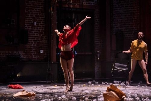 Anya Cloud, left, and Jesse Zaritt in Sara Shelton Mann's 'ECHO/Riding the Rapids.'