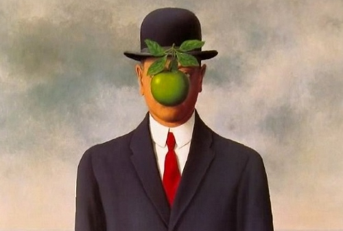 "René Magritte's ""Son of Man""."