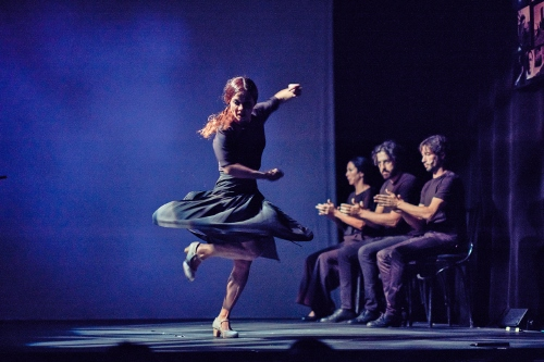 "Olga Pericet and musicians in ""Enfoque"" (Focal Point)."
