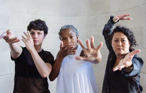 Pictured (L-R) Courtney King, Richelle Donigan and Sue Li Jue in Sarah Bush Dance Project's 'Spirit & Bones.'