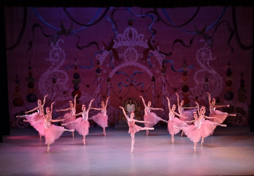 The Waltz of the Flowers, featuring Camila Ferrera as Dew Drop, during Act 2 of Indianapolis Ballet's 'The Nutcracker.'