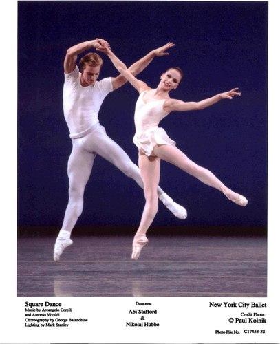 Abi Stafford and Nikolaj Hübbe in NYCB's Square Dance