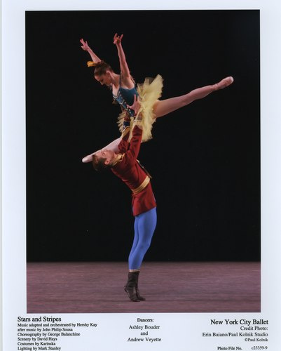 Ashley Bouder and Andrew Veyette in NYCB's Stars and Stripes