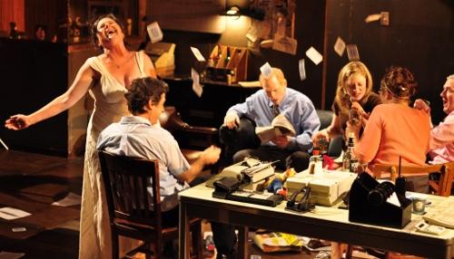 Laurena Allan, Gary Wilmes, Scott Shepherd, Annie McNamara, Kate Scelsa & Vin Knight in 'Gatz'.