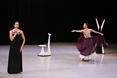 Photo of Natasha Diamond Walker and PeiJu Chien-Pott in Martha Graham's 'Herodiade'.