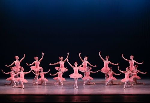 The charming finish of Dance of the Hours as performed by students from the Indianapolis School of Ballet's Pre-Professional Program, part of Indianapolis Ballet's production Love is in the Air, performed Feb. 15-17 at The Tobias Theater at Newfields.