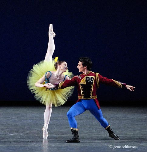 Ashley Bouder & Joaquin De Luz in the Stars & Stripes pas de deux