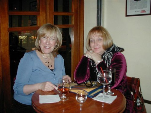 Roberta and Guest, Julienne Viola, <a href='http://www.freedusa.com'>Freed of London</a>, With <a href='http://www.salonziba.com/'>Salon Ziba</a> Hairstyles at Amarone Ristorante