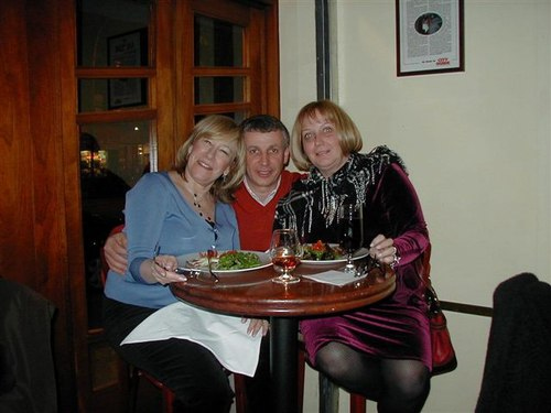 Tony, <a href='http://www.lunapienanyc.com/amarone.htm'>Amarone Ristorante</a> Proprietor, with Roberta and Julienne