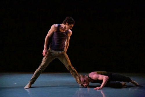 "Matteo Fiorani and Casey Hess in Ido Tadmor's ""HA-E 4 2""."