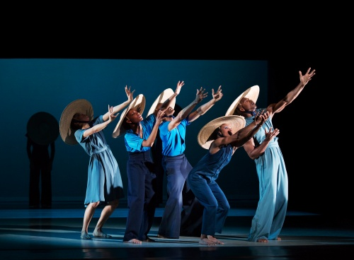 Alvin Ailey American Dance Theater in Jamar Roberts' 'Members Don't Get Weary'.