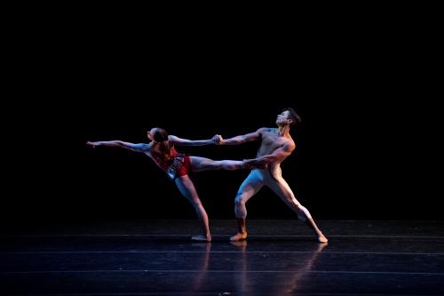 Colorado Ballet's Dana Benton and Yosvani Ramos in Amy Seiwert's 'Traveling Alone'.