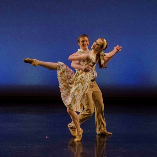 Steven Houser and Gretchen Steimle in James Sofranko's 'The Sweet By and By.'