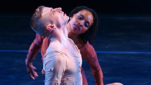 Davalois Fearon and Nicholas Sciscione in IF THE DANCER DANCES (Monument Releasing)