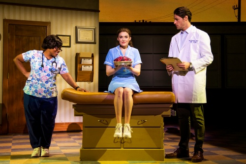 Rheaume Crenshaw, Christine Dwyer and Steven Good in the National Tour of 'Waitress'.