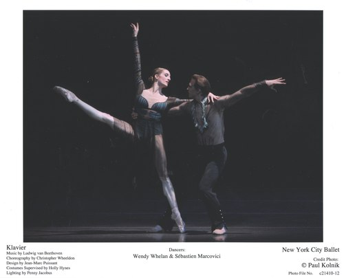 Wendy Whelan and Sébastien Marcovici in NYCB's Klavier