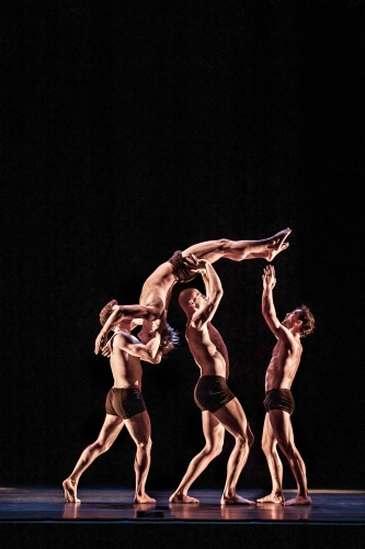 Pictured (L to R) - Zachary Eisenstat, Quincy Ellis, Michael Jacob Warren, and Nathaniel Buchsbaum in 'Gnomen'.