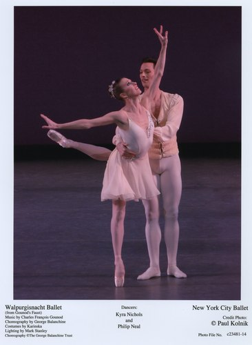 Kyra Nichols and Philip Neal in NYCB's Walpurgisnacht Ballet