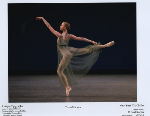Teresa Reichlen in NYCB's Antique Epigraphs