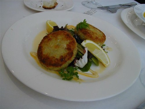 Maryland Crab Cakes with jumbo lump crab meat and old bay seasoning