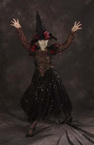 Julie Webb as The Witch in the Creer-King ballet <i>Hansel and Gretel</i> with costumes by Tutus Divine