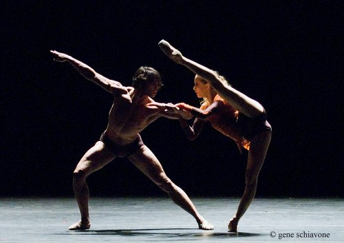 Alicia Amatriain and Jason Reilly (Stuttgart Ballet, NY DEBUT) performing at YAGP 2007 Gala at NY City Center. Photo by Gene Schiavone.